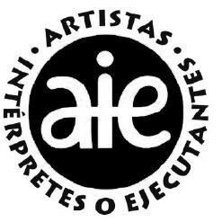 Logo AIE Sociedad de Artistas Intérpretes o Ejecutantes de España